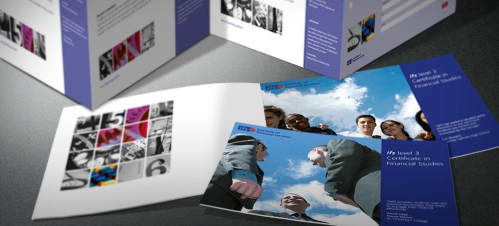 Leaflet design - Institute of Financial Services