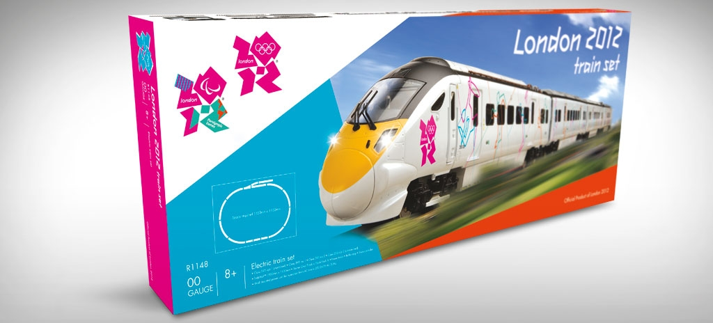 Olympic packaging design - Hornby Olympic train set - LOCOG London 2012 Olympics