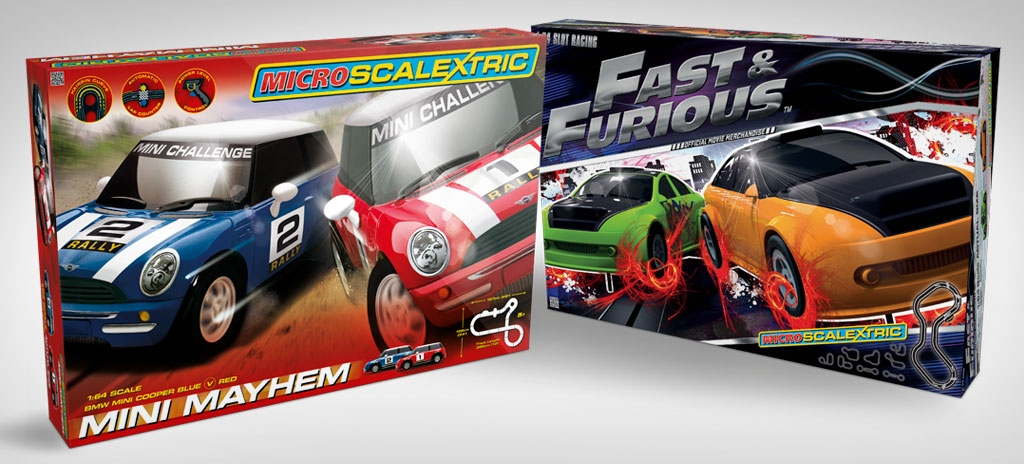 Toy packaging design - Micro Scalextric