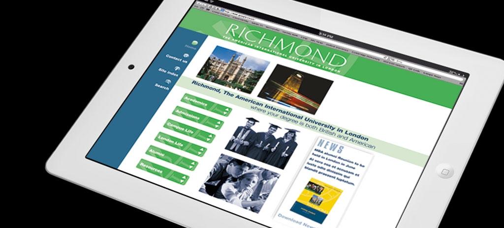 Education website design - Richmond University