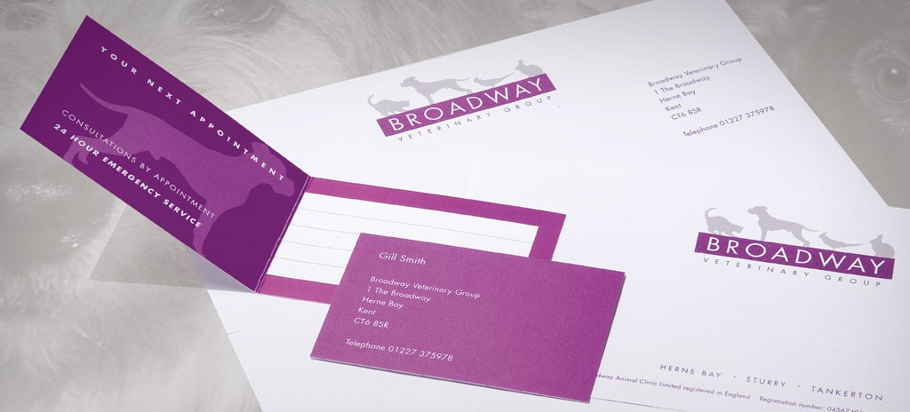 Company stationery - Broadway Veterinary Group