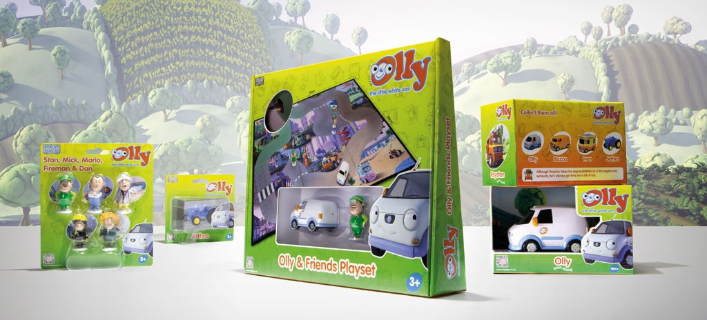 Packaging design - children's TV character Olly the Little White Van