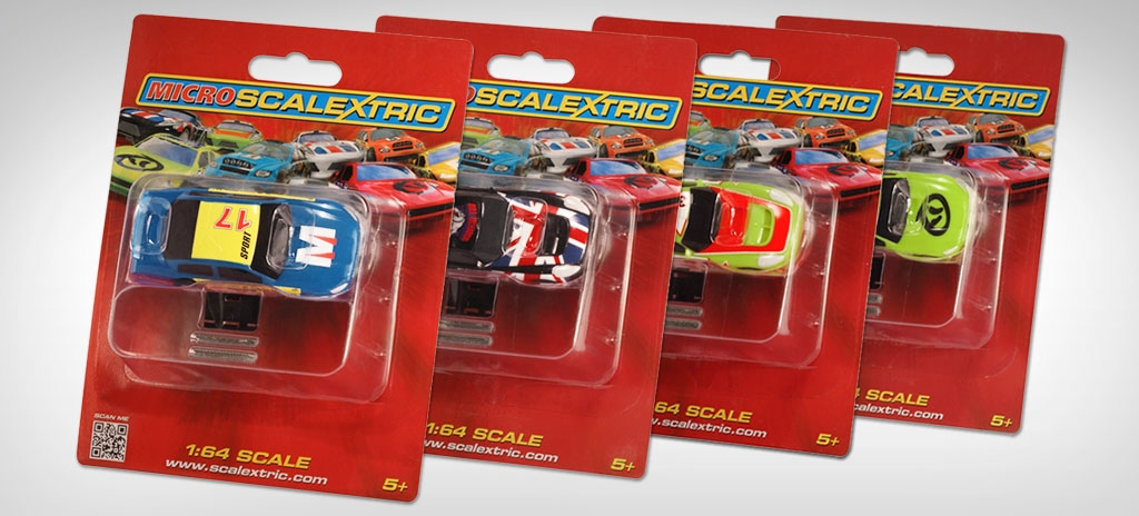 Packaging design - Micro Scalextric blister cards