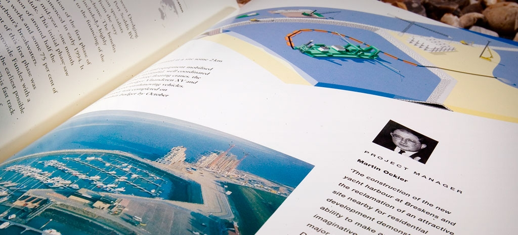 Corporate brochure and literature design - Dredging International