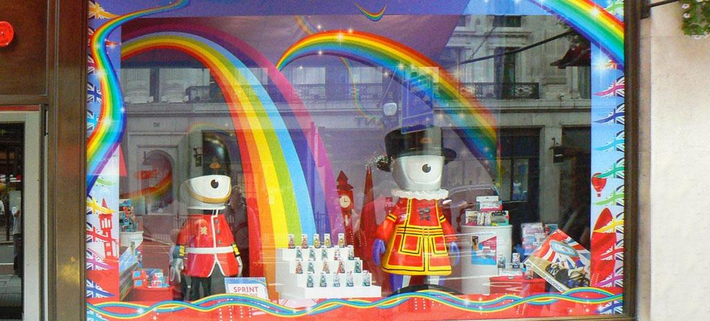 Shop window display - Hamleys Regent Street London 2012