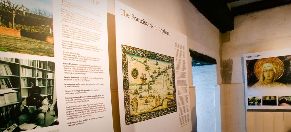 Permanent exhibition display - Eastbridge Hospital Canterbury Kent