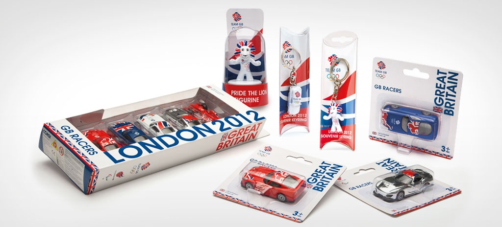 Product graphics and pack design - Team GB London 2012 Olympics