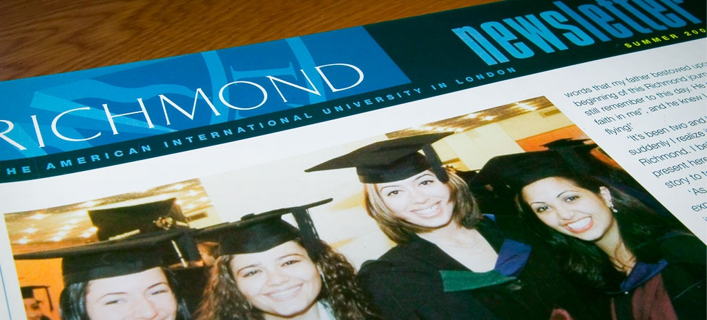 University newsletter design - Richmond University