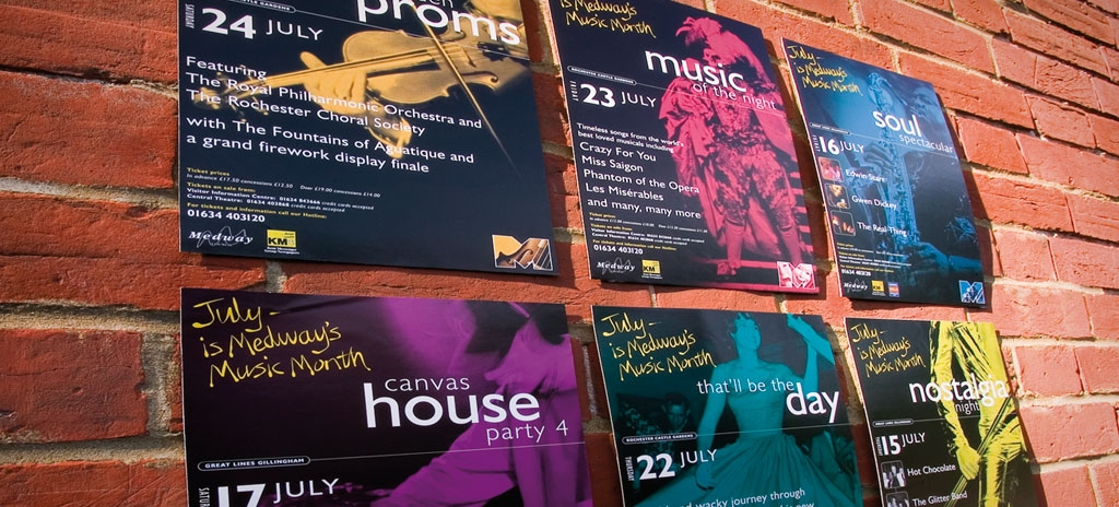 Poster design - Medway Council, Music Month