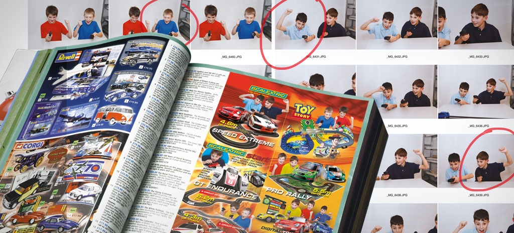 child photography for advertising - Scalextric Argos advert