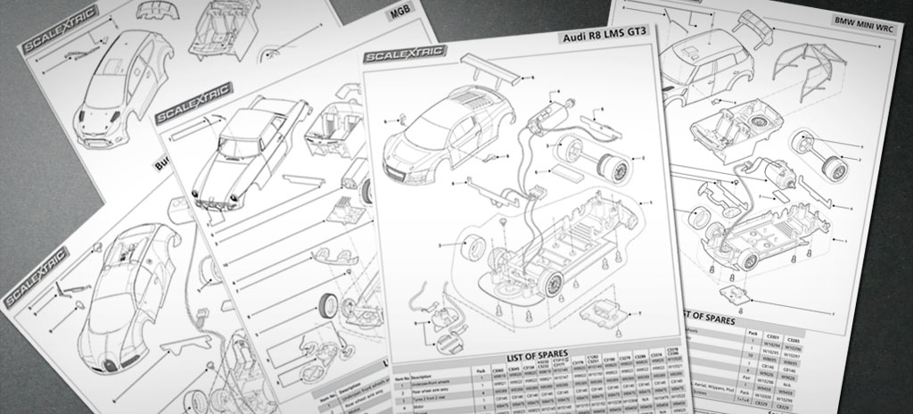 Instruction leaflet - Scalextric maintenance sheet