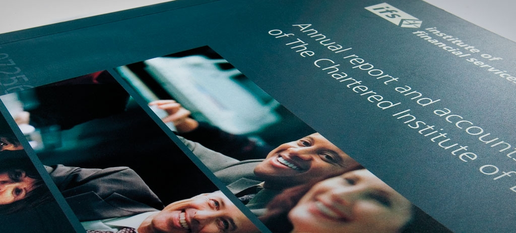 Annual report design kent - Institute of Financial Services