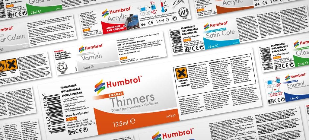 Packaging labels - Humbrol