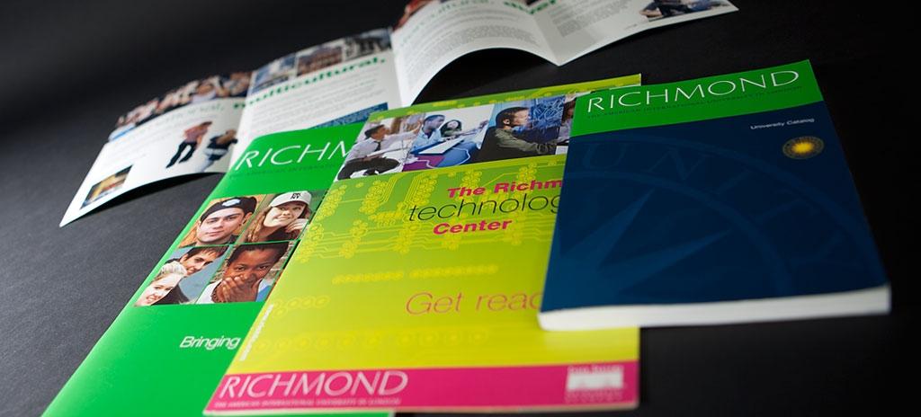Prospectus and brochure design - Richmond University